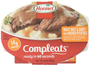 Hormel Compleats Meals, Roast Beef & Mash Potatoes, 9 Ounce