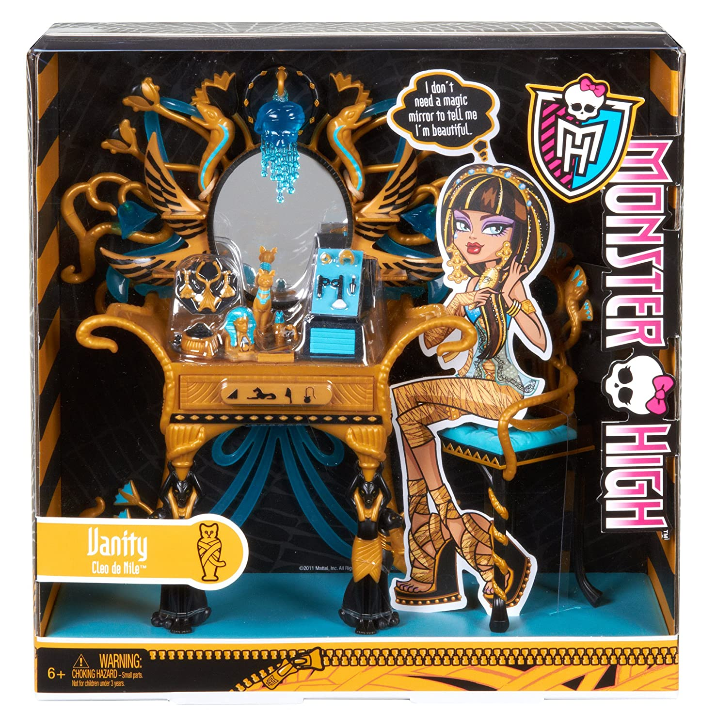 Amazon Monster High Cleo de Nile s Vanity Accessory Toys & Games