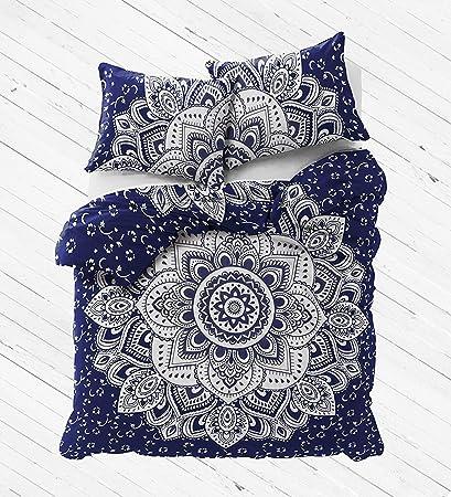 Ombre Mandala Indian Duvet Doona Cover Quilt Cover Bohemian Queen Bedding Pillow