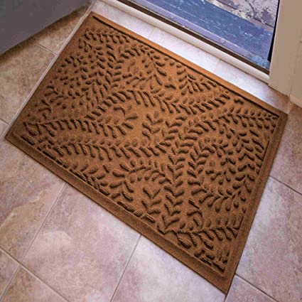 Boxwood Entryway Rug With Non Slip Rubber Backing   Front Door Mat    Outdoor Indoor Entrance