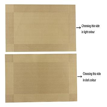CHAOCHI Manteles Individuales Lavables Desgaste Set de 4 Salvamantele Individuales PVC Resistentes para la Mesa de Comedor de Cocina,Haz la Mesa más ...
