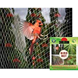 Shalimar Bird Net UV Stabilised HDPE Monofilament Netting Solution 10 X 10 (Feet) Natural Color (1 PC)