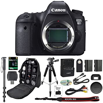 Amazon.com: Cámara réflex digital Canon EOS 6D con Wifi solo ...