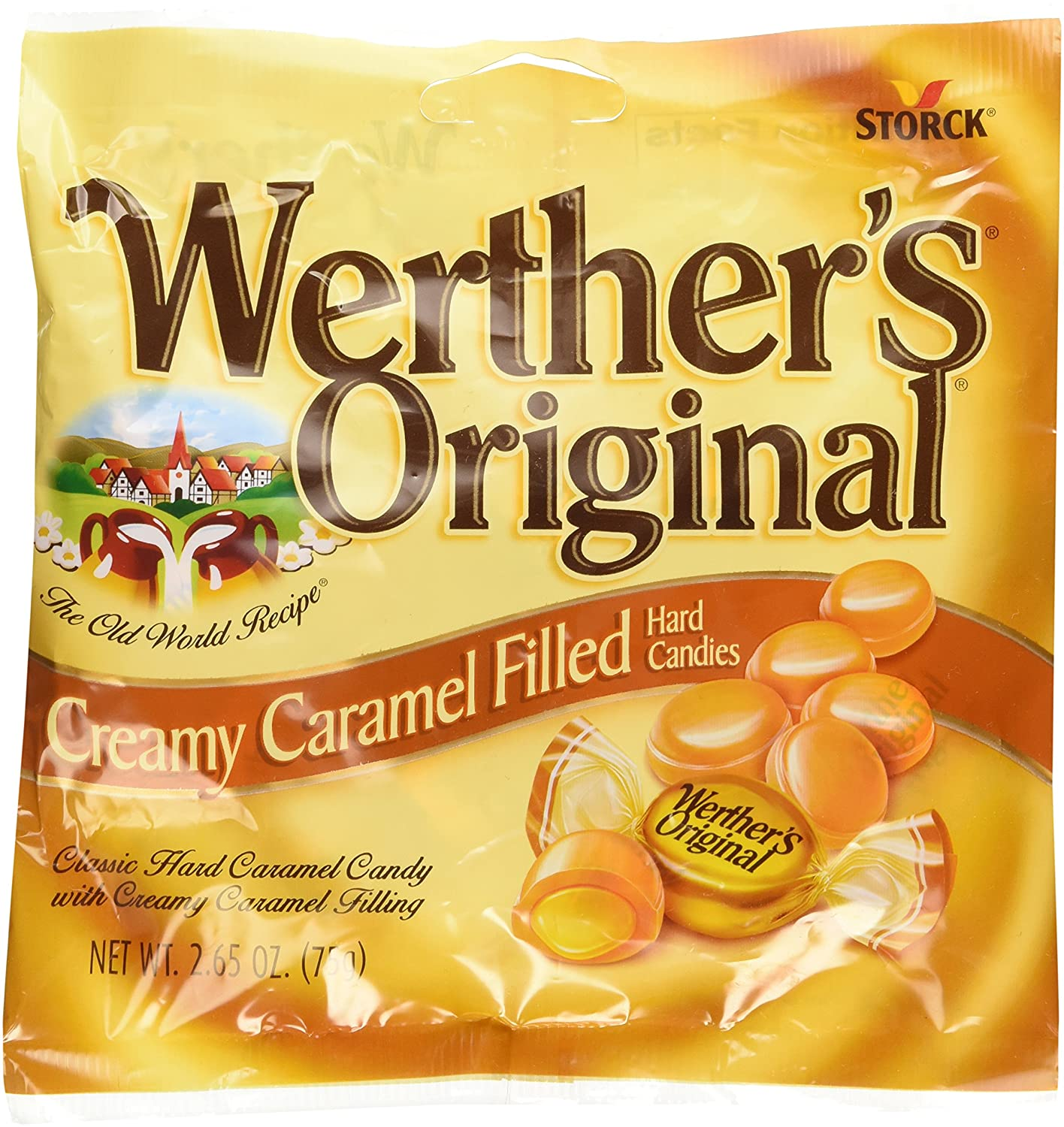 Werther's Original Creamy Caramel Filled Hard Candies (2.65oz) 3 Pack