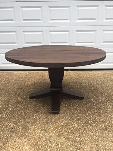 Round Farm Table   Reclaimed Wood   Wood Base