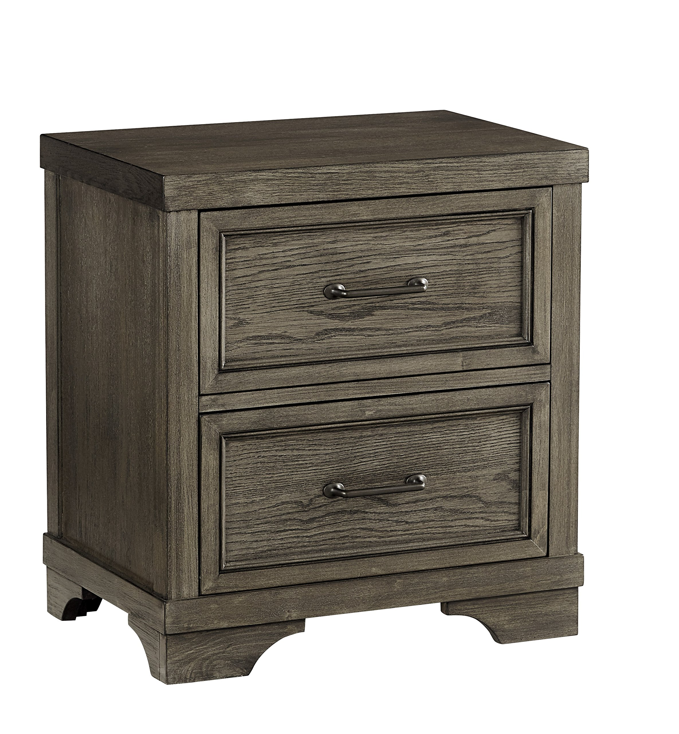 Westwood Design Foundry 2 Drawer Nightstand, Brushed Pewter by Westwood Design