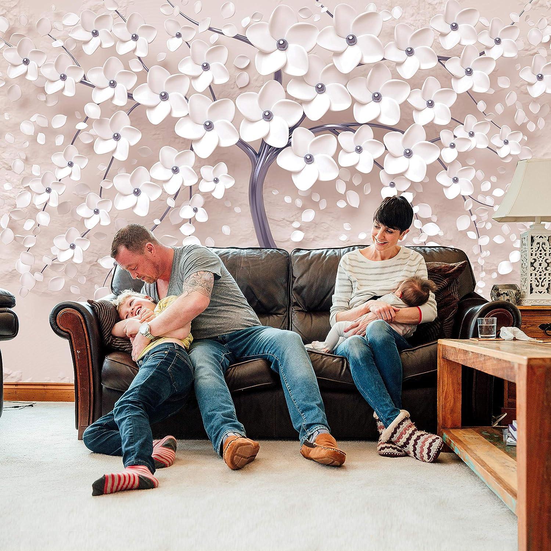 Wandmotiv24 Fototapete Baum rot Weiss Blaumen Betonwand Vögel Ballons Mond Mond Mond Sterne M1916 XXL 400 x 280 cm - 8 Teile Wandbild - Motivtapete B07KLV82XT Wandtattoos & Wandbilder 791ac4