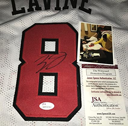 Image Unavailable. Image not available for. Color  Zach LaVine Signed Jersey  - Custom WITNESS COA White - JSA Certified - Autographed ... 2a1c13381