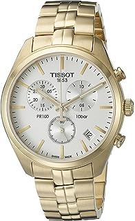 Tissot Mens T1014173303100 Analog Display Quartz Gold Watch