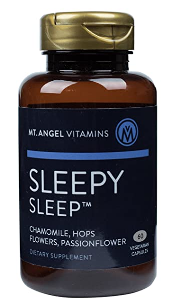 Mt. Angel Vitamins - Sleepy Sleep, Herbal Sleep Cycle Support, 60 Vegetarian Capsules