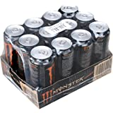 Monster energy khaos energy drink, boîte energydrink wachmacher, de l'énergie, et la taurine et la caféine, lot de 12, 12 x 0,5 l