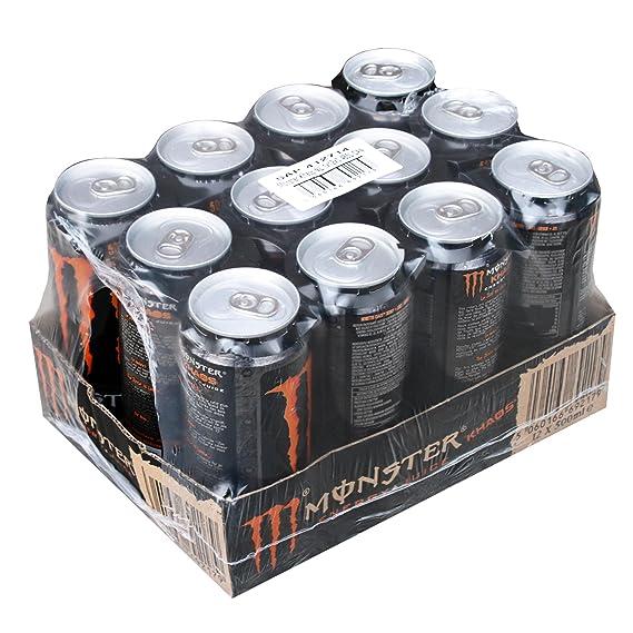 Monster Energy Khaos lata, Energy Drink, Energy Drink, energía, despertó, con