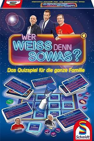 Schmidt Spiele 49356 Wer Weiss Denn Sowas Quizspiel Bunt Amazon De Spielzeug