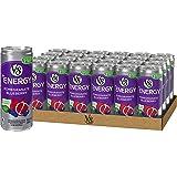 V8 +能量饮料,来自茶的天然能量,石榴蓝莓,8盎司每罐/237毫升(24罐装)