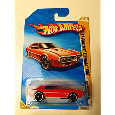 Hot Wheels 2010 New Models, RED '67 Pontiac Firebird 400 3/44: Toys & Games