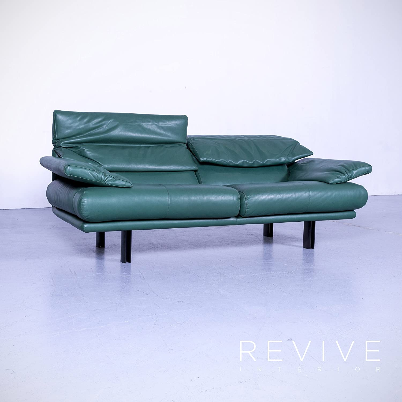 B & B Italia alanda Designer piel sofá turquesa azul 2 ...