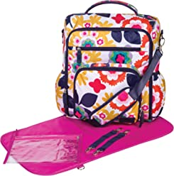 90920b8b502f23 Trend Lab French Bull Convertible Backpack Diaper Bag