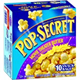 Pop Secret Snack Size Movie Theater Butter, Microwavable Popcorn, 10-Count, 17.5-Ounce Box (Pack of 3)