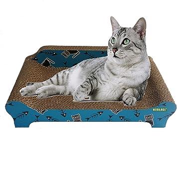 Heritage cartón B84Fishbone sofá gato rascador arañazos para cama sofá Lounge gratis y diseño de gato: Amazon.es: Productos para mascotas
