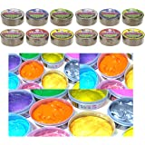 12 x Tubes Of Stretchy Glitter Gummy Slime Putty Kids Party Bag Stocking Filler Toy