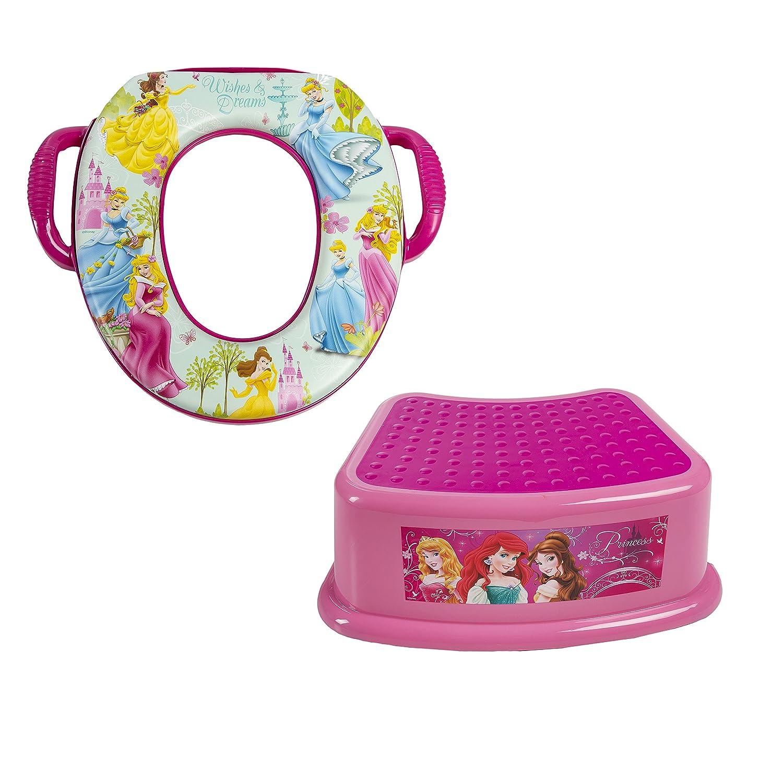 Disney Princess Combo Step Stool & Potty, Pink GINSEY 45054