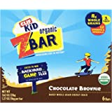 Clif Kid Organic ZBar, Chocolate Brownie,1.27oz Bars , 6 Count  (Pack of 6 )