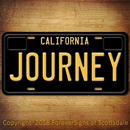 Journey Rock And Roll Band California Aluminum Vanity License Plate