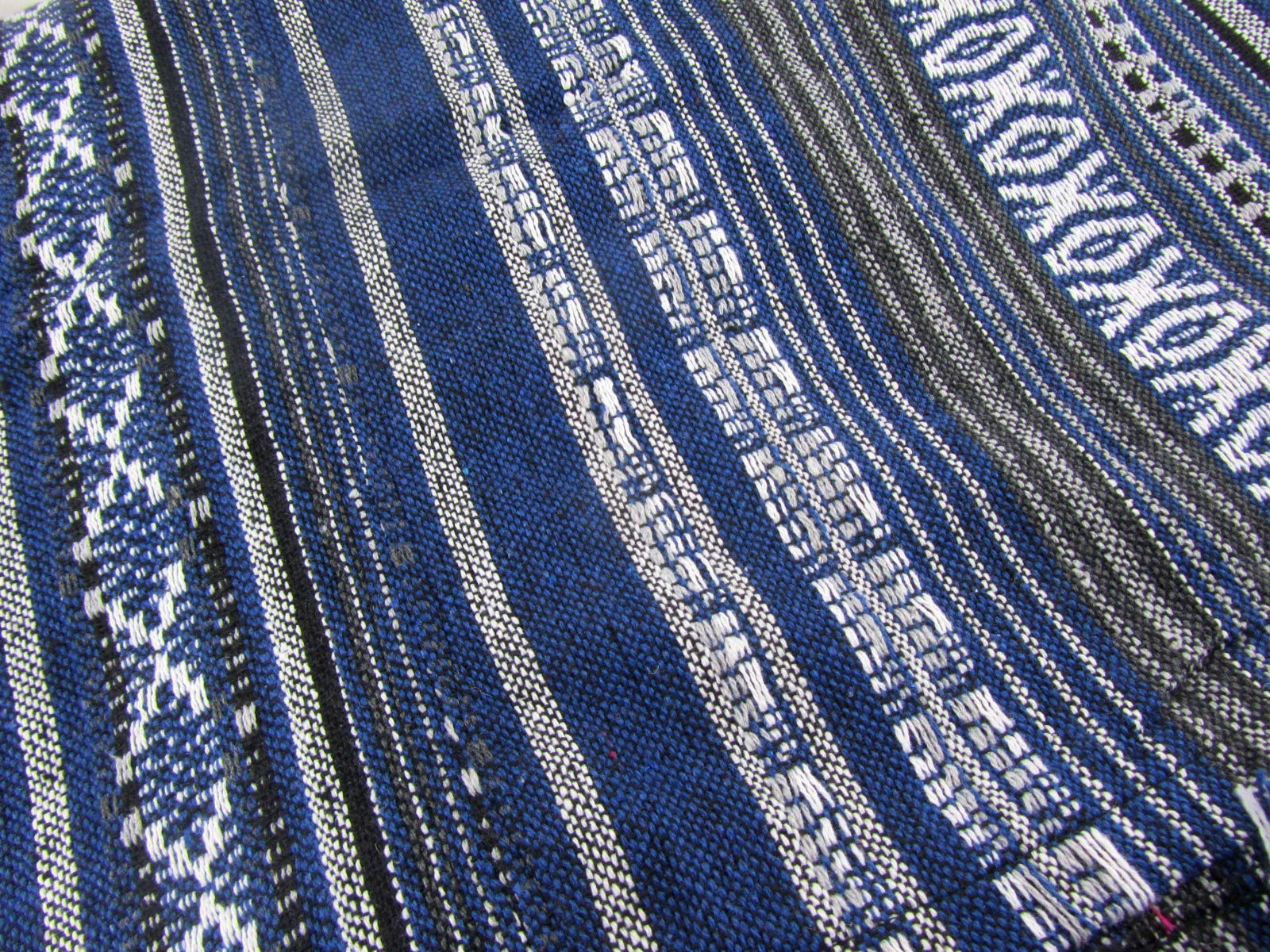 Large Handwoven Tribal Blanket Aztec Ikat Bedspread Queen Size 100% Cotton 90'' x 85'' by Blue Orchid (Image #4)