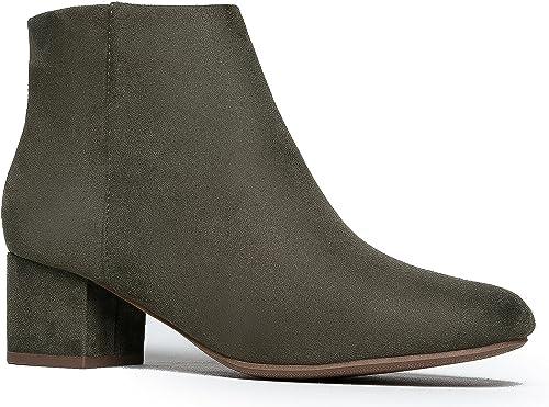 Amazon.com: J. Adams botines de tacón bajo, botines casuales ...