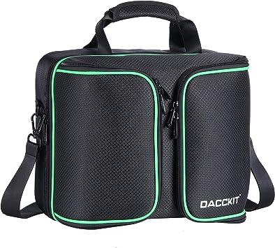 D DACCKIT - Funda de viaje compatible con consola Xbox One X/Xbox One S y accesorios, compatible con consolas de juegos, 2 controladores inalámbricos, juegos, auriculares, cables de alimentación y más: Amazon.es: