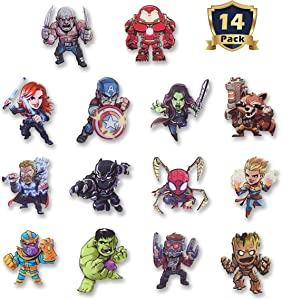New The Avengers Refrigerator Magnets-Marvel Heroes Fridge Magnets- Set of 14 Marvel Characters-Final Battle Perfect Decorative Magnet