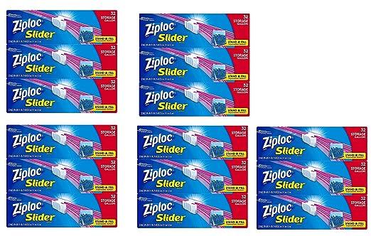 Ziploc Slider bolsas de almacenamiento, L tamaño vzcjks, 480 ...