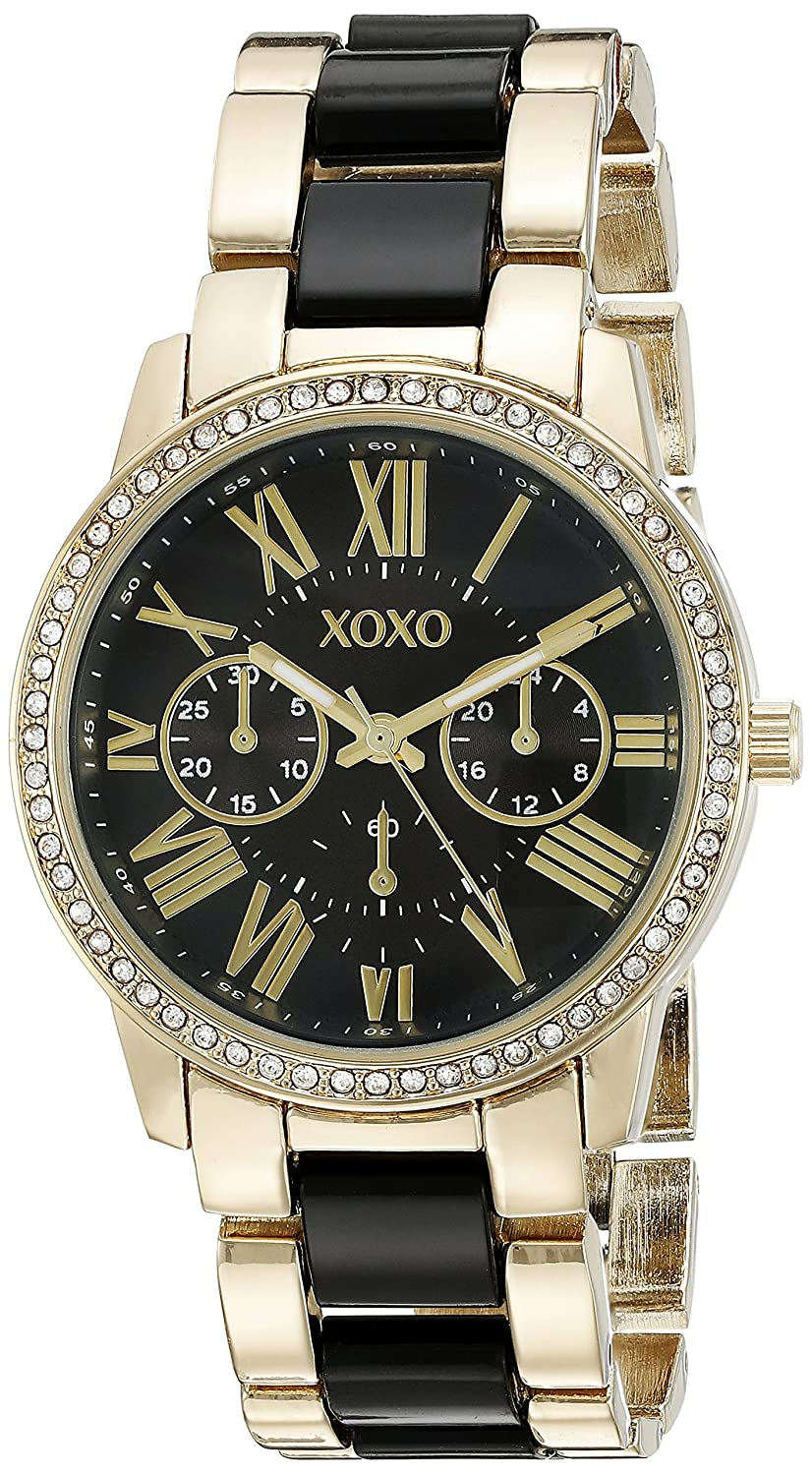 Buy XOXO Women s XO5874 Gold-Tone and Black Bracelet Watch Online at Low  Prices in India - Amazon.in bb51e8cad6fe