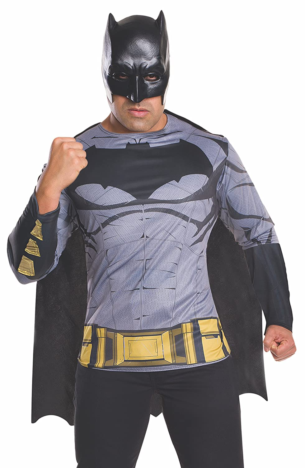 Amazon.com Rubieu0027s Menu0027s Batman v Superman Dawn of Justice Batman Costume Top Clothing  sc 1 st  Amazon.com : batman adult costumes  - Germanpascual.Com