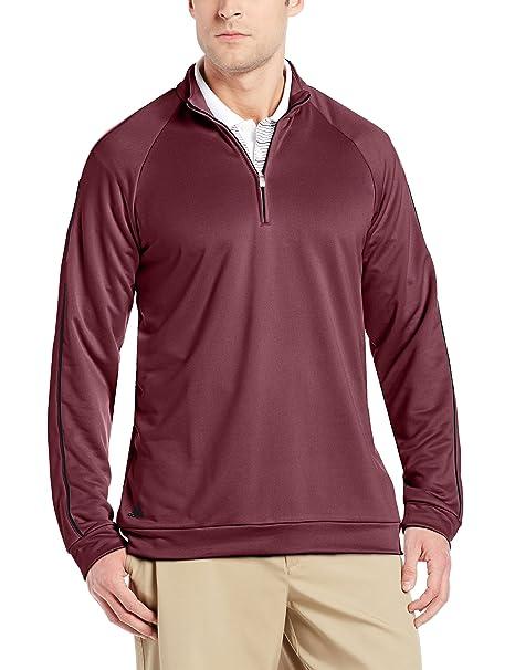 innovative design ebc91 c669e adidas Golf Men s 3-Stripes Piped 1 4 Zip Shirt, Amazon Red