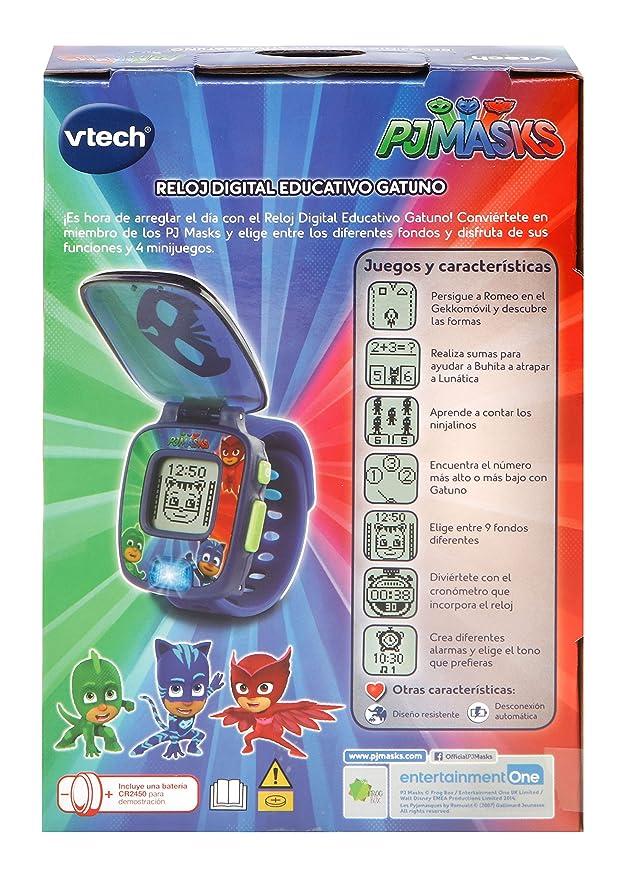 VTech PJ Masks Gatuno, Reloj Digital Educativo Que estimula el Aprendizaje e incorpora minijuegos y Actividades, Color Azul (3480-175822): Amazon.es: ...