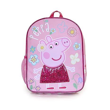 Zaino Bambina Di Peppa Pig Con Sequin | Zainetto Per Bambini