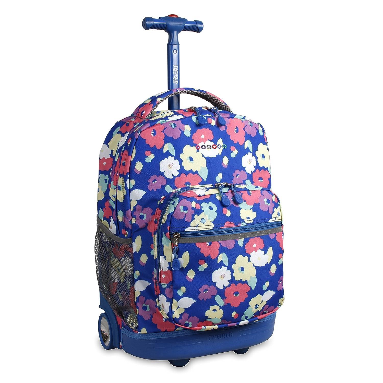 J World New York Boys' Sunrise Rolling Backpack, Indigo, One Size RBS-18 INDIGO