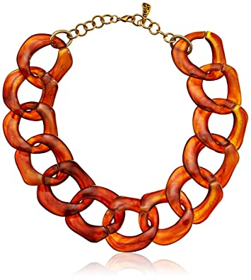 mae orange necklace products large lucite copper vintage