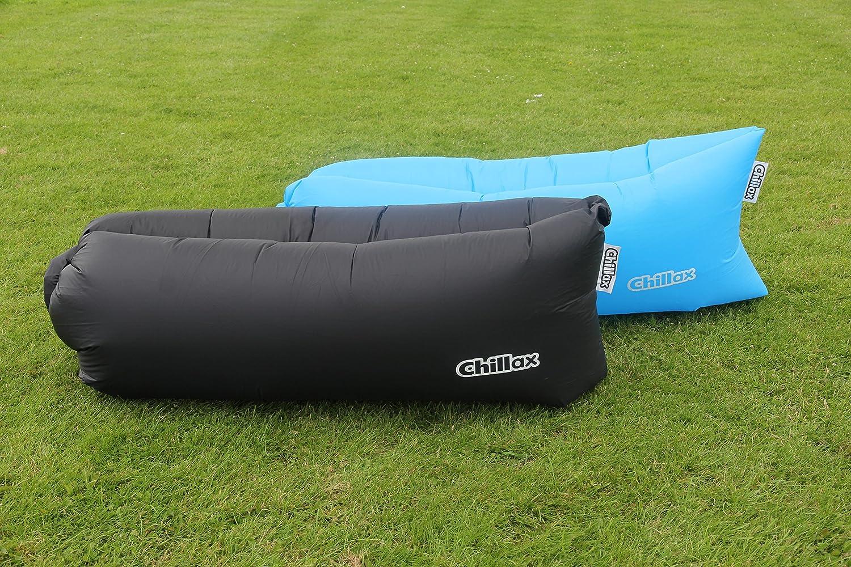 Nueva rápido hinchable saco de dormir Lazy aire Hangout tumbona cama Camping playa Aire saco de dormir Camping al aire libre Banana rápido hinchable Air ...