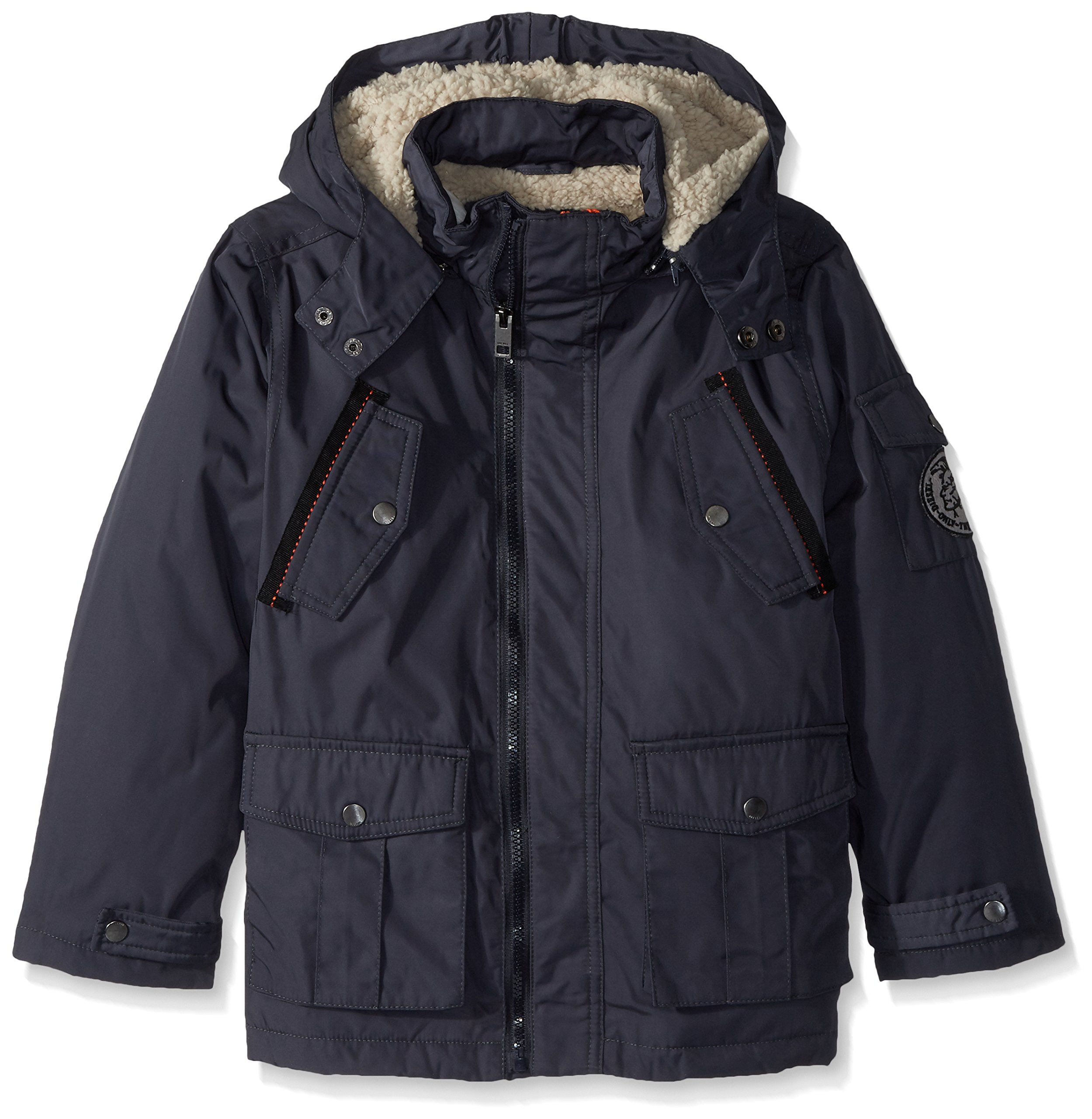 Diesel Boys' Little Outerwear Jacket (More Styles Available), Paprika/Charcoal 5/6