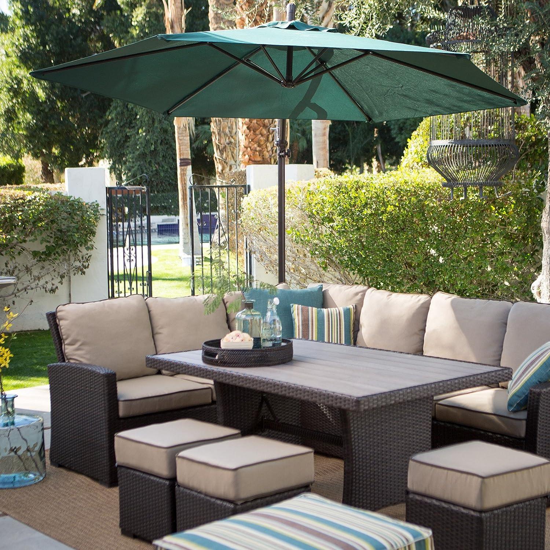 Amazon Dark Brown Modern All Weather Wicker Aluminum Sofa