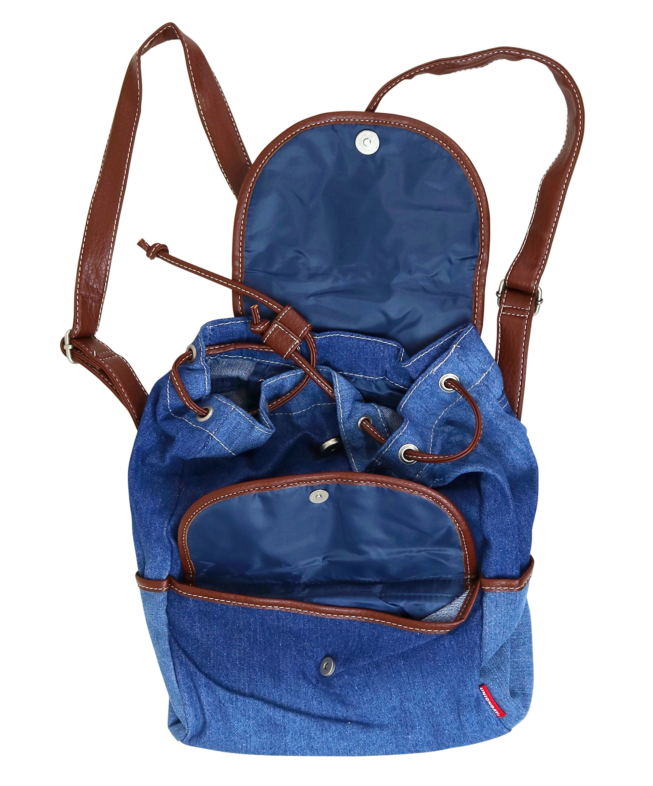 Unionbay Denim Backpack Handbag with Adjustable Faux Leather Straps by UNIONBAY (Image #4)