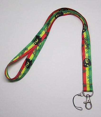 Bob Marley Lanyard Keychain Holder