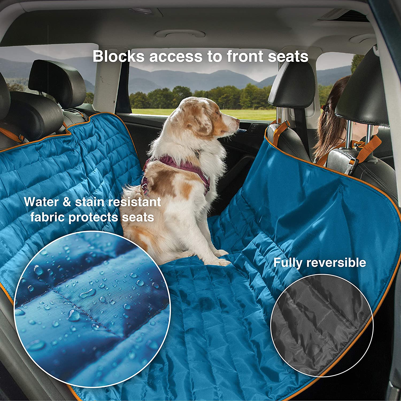 Kurgo Autoschutzdecke Für Hunde Wandelbar In Rücksitz Abdeckung Einheitsgröße Passend Für Die Meisten Fahrzeuge Wendbar Blau Orange Loft Hammock 01308 Haustier