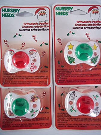 Amazon.com : Lot of 4 Assorted Holiday / Christmas Orthodontic ...