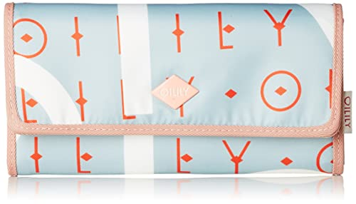 Oilily - Groovy Letters Purse Lh12f, Carteras Mujer, Azul (Light Blue),