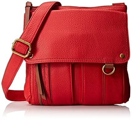 1c2684d116 Fossil Morgan Traveler Cross Body Bag, Red, One Size: Handbags ...