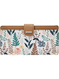 41f5e69d15d0 Relic by Fossil RFID Tab Checkbook Floral Multi White