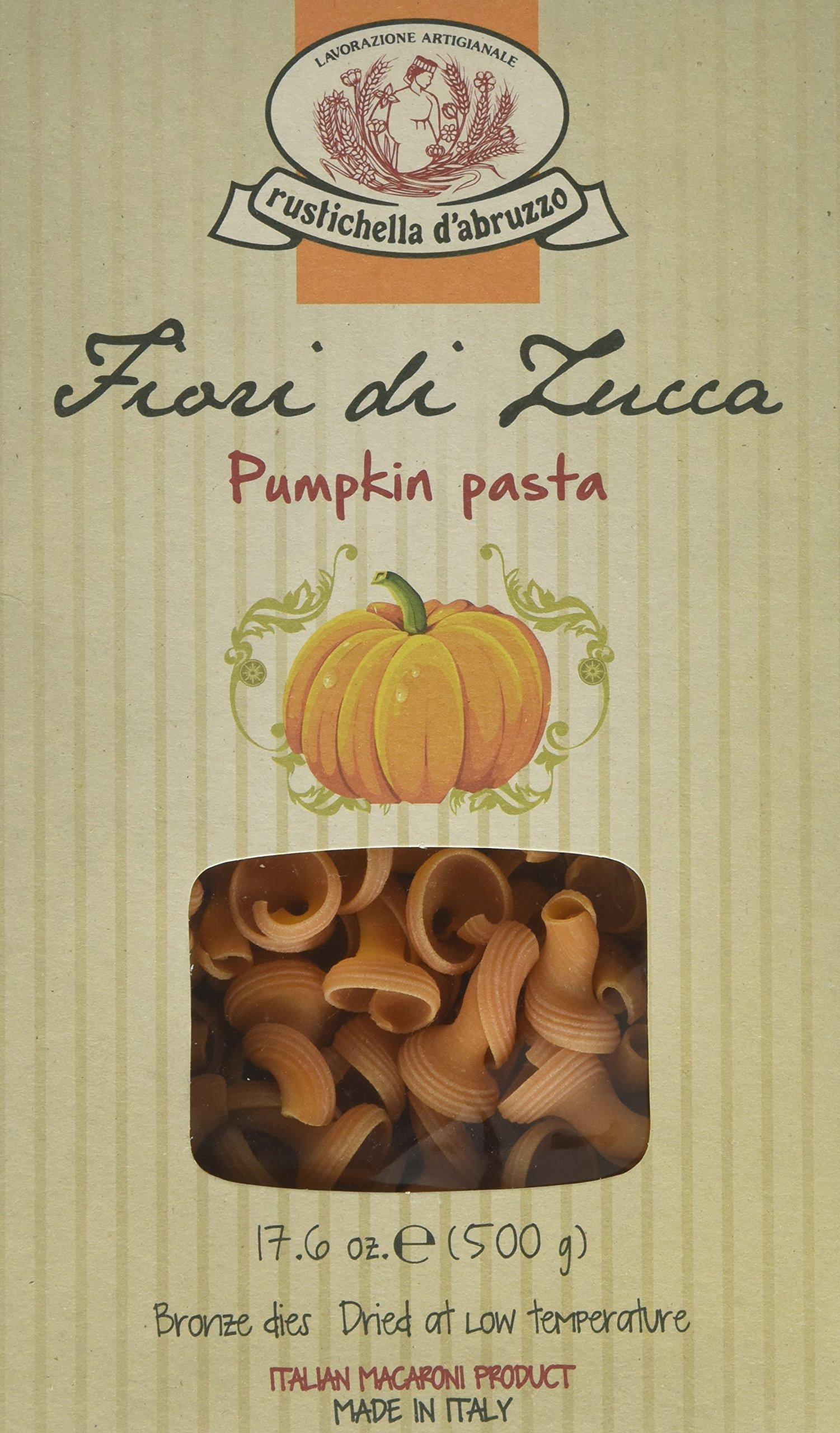 Rustichella D' Abruzzo Zucca Di Fior Pumpkin Torchio Pasta 500 Grams (1.1 Lb)